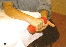 Exzentrisch Übung Tennisarm