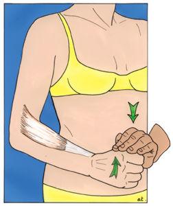testen des ellenbogens
